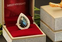 Handmade gemstone rings / One of a kind artisan rings, collection of handmade rings made in sterling silver and gold.