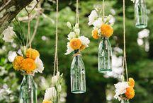 Adornos florales en arboles