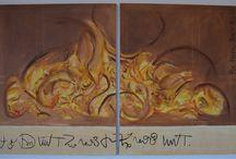 Kunstmaler Pia Rodil Bach / Der er ikke noget så skønt som at fordybe sig i farver, pensler og fri fantasi ♥ Det giver mig overskud, energi og livsglæde :)
