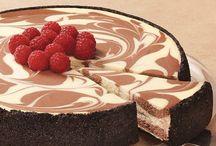 Chocolate cheese marble cake.