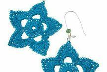 aretes crochet♡