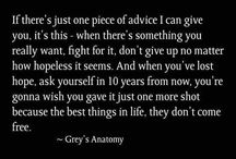 Beautiful Words From Grey's
