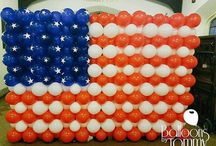 Red, White, and Blue Balloon Decor / Red, white, and blue for Americans generally sparks thoughts of fireworks and hot dogs.  Independence Day, Labor Day, Veteran's Day, Memorial Day proudly display the patriotic colors during their celebrations.  Here we have a few twists on traditional red, white, and blue decor.  Want more? Visit www.balloonsbytommy.com