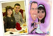 Wedding Caricature / About Wedding Caricature: The wedding caricatures give a dose of humor and joy to the most important event in the life of a couple – Their Wedding. The wedding caricatures are created in digital A2 size with a resolution of 300 dpi and include the caricature of the couple, with a wedding theme chosen by you. It is the ideal wedding gift, or the gift to be printed on invitations, wedding gifts and T shirts. Remains the unforgettable memory over the years about this important day.