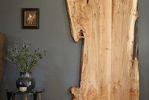 ideias rusticas com tacos de madeira