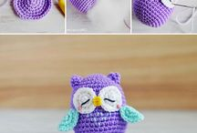 Crochet owls / These are not my own pictures, but I like owls and crocheting, So here is a kind of flat: Crochet owls