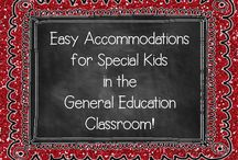 Easy Ways to Help Special Needs Kids in Regular Ed Classrooms / This board is dedicated to finding ideas to help special needs kids (or just struggling learners, with or without a label!) in regular education classrooms.  Please visit me at www.heidisongs.com, or my blog at http://heidisongs.blogspot.com! / by HeidiSongs