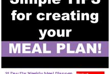 Twenty one day fix meal planner