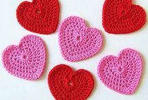 Modelos de coração de crochê
