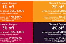 Promotions / Discount coupons and cut off prices promotions are in here.
