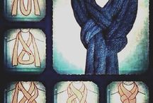 Плетеный шарф