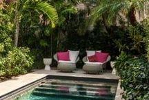 backyard with little pool