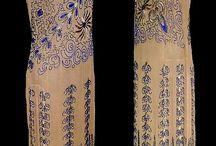 Бисерная расшивка платья