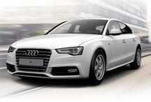 Audi A5 / De clean vormgegeven voorzijde en de driedimensionale motorkap geven de audi A5 een vastberaden uitstraling.
