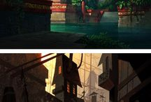 environments and backgrounds