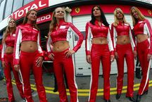 Pit girls and grid girls......