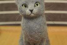 Needle felted craft