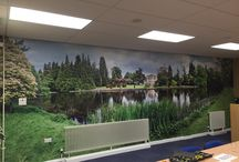 Attention-grabbing wall-art / Wall-art designed, produced and fitted by Top Brass Contracts