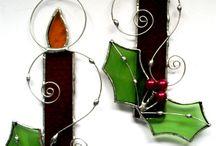 Adornos en vitraux para navidad