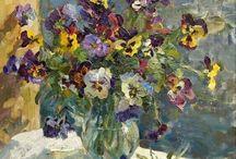 цветы. живопись