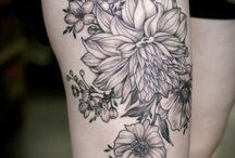 Tatto flower black