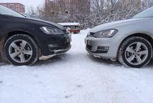 Зимний фотосет / Небольшая зимняя фотосессия VW Golf 7