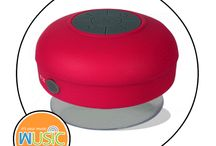 Wusic Shower Speakers / A Bluetooth Speaker that goes wherever you go - including the shower!