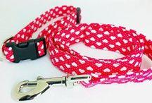 Handmade Dog Collars & Leads / A select range of handmade dog collar and lead sets, made in the UK