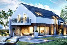 HomeKONCEPT 10 | Projekt domu / Projekt domu jednorodzinnego HomeKONCEPT-10 wyróżnia wyrazista, nowoczesna bryła. Dzięki prostej formie uzyskano optymalną powierzchnię użytkową, na której rozplanowano bardzo przemyślany układ pomieszczeń. Prostotę bryły  uwydatnia bezokapowy dach przekryty blachą tytanowo-cynkową. Dwustanowiskowy garaż nieco wysunięty przed lico bryły przełamuje geometryczną formę budynku. Powierzchnię nad garażem zagospodarowano pod przyjemny, narożny taras.