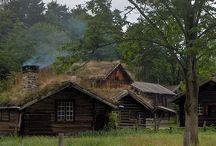 ノルウェー農村風景