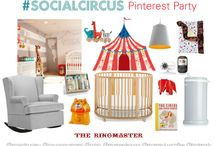 "#SocialCircus Design Inspiration / Get ready to party under the big top with Savvy Sassy Moms and Project Nursery. Bird's Party, Project Nursery, Dear Crissy, Mom Endeavors, Savvy Sassy Moms and Mommy Loves Coffee have teamed up to collaborate on a ""#SocialCircus Design Inspiration"" pin board. Join us Wednesday, April 9th at 6pm PDT / 9pm EDT for a party full of colorful ""pinspiration"". / by Project Nursery 