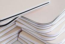 Letterpress sketchbook/journal / Book design