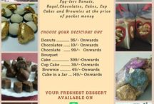 Homemade bakery for delicious freshest dessert... / Home Based Bakery for delicious Egg-less Donuts, Bagel,Chocolates and Cakes at the price of pocket money.