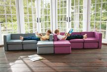 Kid Sactionals / Kid Sactionals are small couches for big imaginations that free both kids and parents to live the life they love. They're everything you love about Sactionals in a special design just for pint-sized people. / by Lovesac