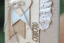 Hand Stamped Cards - Shabby Chic
