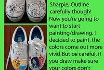 tenis pintados y varios