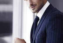 Pin Stripe suites for men