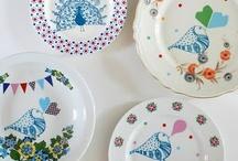 Porcelænsmaling / Inspiration til projekter med porcelæn