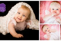 Year One Portraits / Amanda Freeman Photography Baby milestone portraits.