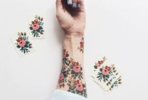 TREND: FLORAL TEMPORARY TATTOOS / Beautiful floral tattoo ideas - watercolour  - folklore  - flowers and geometrical forms