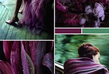 ° all shades of green & violet