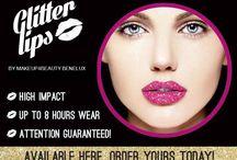 Glitterlips / Glitterlips zijn verkrijgbaar in schitterende kleuren en zijn maar liefst 8 uur lang kissproof, drinkproof en partyproof!