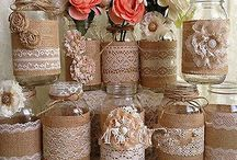 decorating old jars