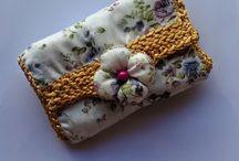pochettes, portes monnaie, portes cartes, par chely's création alittlemarket.com / création de pochettes portes monnaie et portes cartes au crochet , en tissu, en simili cuir fait main