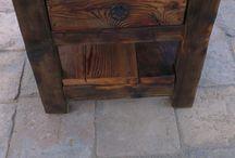Rustic furniture design by MikulaArt/ csicsókabutik / Rustic and vintage furniture