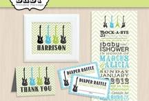 Guitar Baby Shower