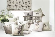 Springer Spaniels / Collection of fabrics for dog lovers.  Printed and designed in the UK by Nikki Szabo.  www.nikki-szabo.co.uk