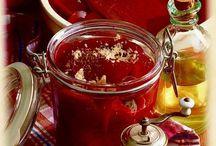 marmelády a nápoje