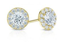 Diamond Studs in Yellow Gold / Our Collection of 14k and 18k yellow gold diamond studs.