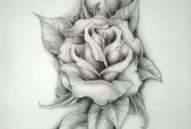 rose tattoo cover up black
